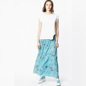 Zadig & Voltaire Jess Psyche Skirt S 36 Maxi 11570